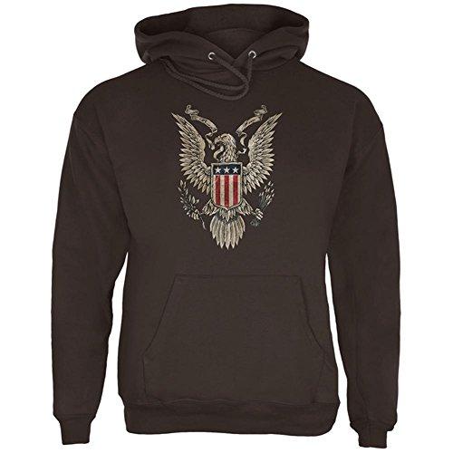 4. Juli geboren kostenlos Vintage American Bald Eagle mens Hoodie Brown MD (Outerwear Eagle American)