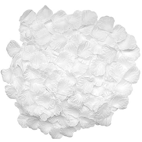 candora® Vintage 2000pc/Set schöne Hochzeit Blütenblätter Blumen Seide Rose Dekoration für Hochzeit weiß