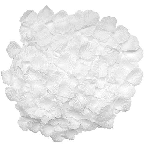 Preisvergleich Produktbild candora® Vintage 2000pc/Set schöne Hochzeit Blütenblätter Blumen Seide Rose Dekoration für Hochzeit weiß