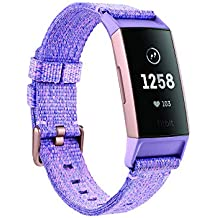 Fitbit Charge 3 Fitness Activity Tracker Special Edition (Lavender Woven) with Offer on Accessory
