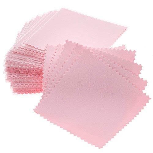 Vaorwne 50Er Pack Schmuck Reinigungstuch, Schmuck Poliertuch Für Sterling Silber Gold Platin Rosa