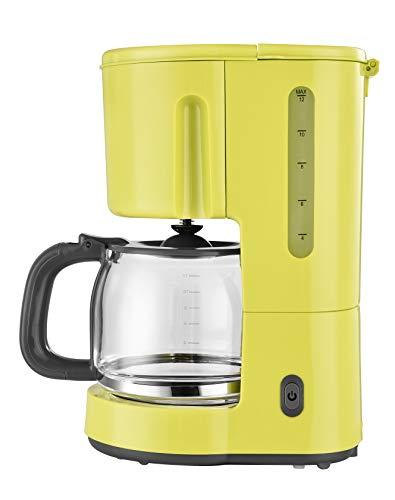 Efbe-Schott Filter-Kaffeemaschine, 1,5 l Fassungsvermögen, Glaskanne, Für 10-12 Tassen, 900 W, Gelb, SC KA 1080.1 GLB -