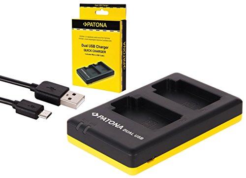 Dual Ladegerät Doppellader für die Sony Alpha 6000 Systemkamera (laden Sie 2 Akkus gleichzeitig via USB-Anschluss)