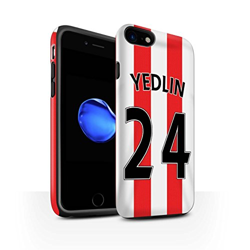 Officiel Sunderland AFC Coque / Matte Robuste Antichoc Etui pour Apple iPhone 7 / Van Aanholt Design / SAFC Maillot Domicile 15/16 Collection Yedlin