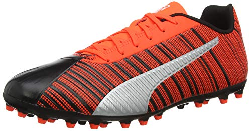 puma one 5.4 mg', scarpe da calcio uomo, nero black-nrgy red aged silver, 39 eu