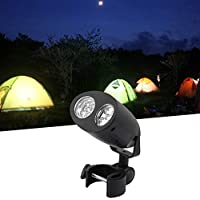 FGHGFCFFGH Super Brightness Adjustable Bright BBQ Grill Light-Handle Mount Outdoor Camp LED Light Lamp Easy To Carry Black