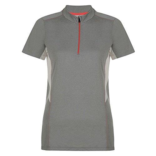 Dare 2b Womens/Ladies Configure II Half Zip Shortsleeve Cycling Jersey Ash Grey Marl