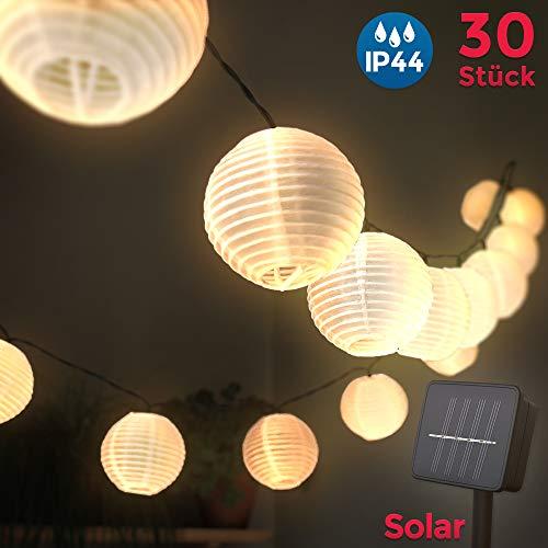 Lanterne da esterno LED, lucine solari per esterni, 6 Metri, 30 Lanterne a LED, Lanterne ad energia solare, Lanterne resistenti all'acqua, Decorazione natalizia, luci giardino, terrazza, casa