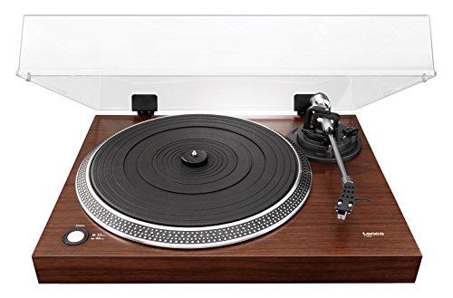 Lenco L-90X tocadisco - Tocadiscos (Tocadiscos de tracción por correa, Semiautomático, Nuez, 33,45 RPM, Corriente alterna, 5 W)