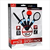 Sony� PS3 MOVE 12-in-1 MULTI PACK CONTROLLER ATTACHMENT BUNDLE for Various SPORTS GAMES (Accessories Include: 1x Sword + 2x Tennis Racket + 2x Ping Pong Rackets + 1x Golf Club + 2x Silicone Sleeve + 2x Controller Strap + 2x Controller Handle Grips) - Designed by KIICKS exclusively for Sony Playstation 3 (PS-3 Move) Remote Controllers