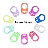 BTTBEST Zufällige Farbe 10 PCS Baby Schnuller Silikon Ring Adapter für Schnullerketten