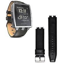 BlueBeach® Cuero Sustitución de la correa de pulsera para Pebble Steel Smart Watch