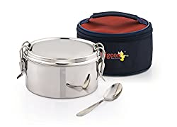Pigeon AROMA 1 Lunch Box, Silver