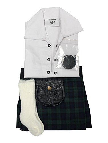 Black Watch Tartan Baby Verstellbar Kilt, Schlauch, Sporran 0-24 Monate -