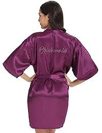 Vlazom Bride Bridesmaid Robes Satin Bridal Party Robe Dressing Gwons 3447c1f3e