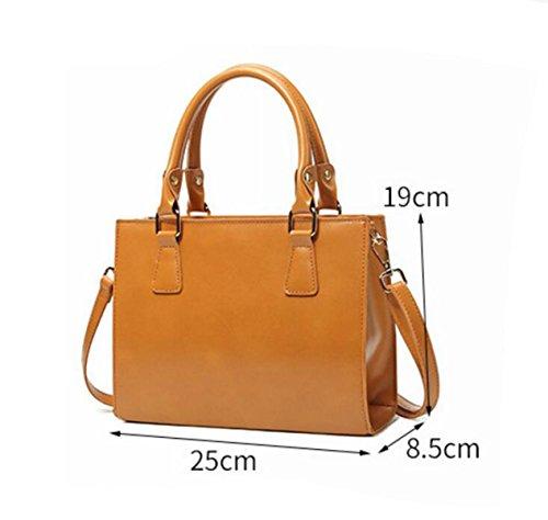 Frauen Handtasche Süßigkeiten Farbe Schulter Tasche Kleinen Quadratischen Paket Einfache Mode Metall Ziehen Kopf Black