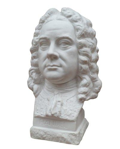 Gipsmanufaktur Büste Komponist Händel 23 cm weißer Alabastergips