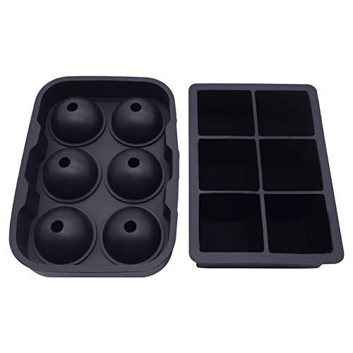 2 bandejas silicona reutilizables cubitos hielo, molde