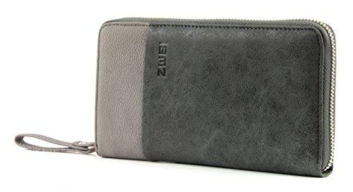 Zwei Eva EV2 Reißverschluss Geldbörse Portemonnaie Geldbeutel Brieftasche, Farbe:Black