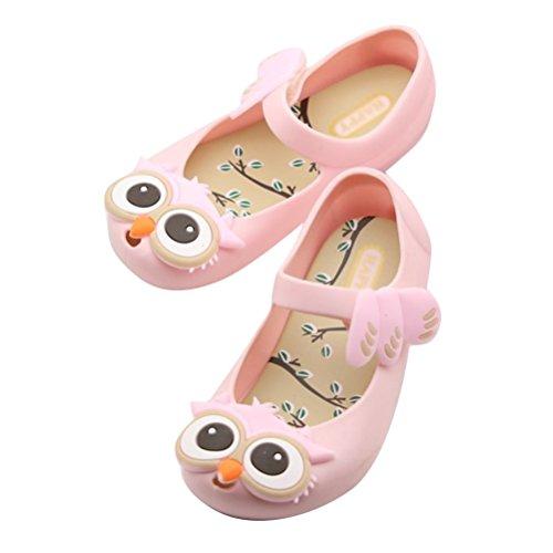 Brinny Kinder Mädchen Sandalen Regen Schuh Eule Geleeschuhe Kinder Strandschuhe Clogs Sandalen Sommer Strand Badeschuhe hausschuhe Pink