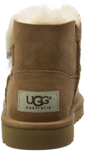 UGG Australia Mini Bailey Button, Bottes Mixte enfant brown (Chestnut)