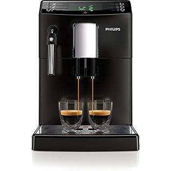 Philips 3100 Serie HD8831/01 Kaffeevollautomat (1850 Watt, klassischer Milchaufschäumer) schwarz