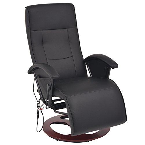 vidaXL Massagesessel Relaxsessel Fernsehsessel Massage Heizung TV Sessel SCHWARZ