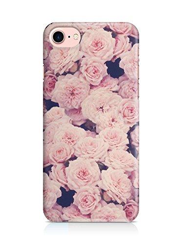 COVER vintage ROSES Blume Floral pink Handy Hülle Case 3D-Druck Top-Qualität kratzfest Apple iPhone 7 Blogger-kamera