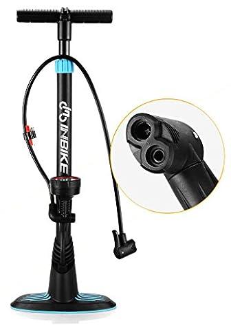 Inbike 160 PSI Bike Floor Pump with Presta & Schrader