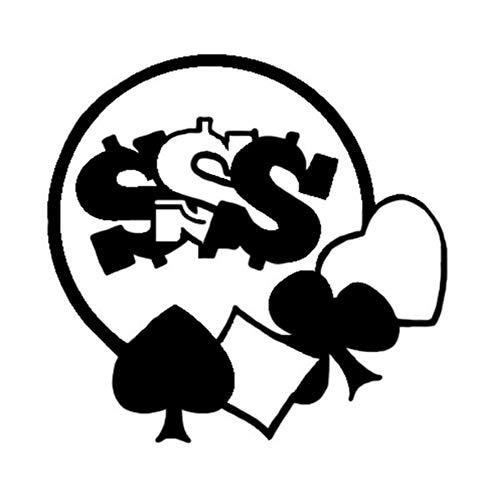 Autoaufkleber 14,3 * 13,9 CM Mode Dekor Poker Spiel Auto Aufkleber Vinyl Zubehör Silhouette 2 Stück