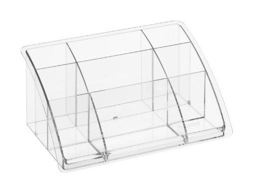 Rotho 1113300096 Boîte de bureau haute Timeless Plastique Transparent 45 x 35 x 25 cm