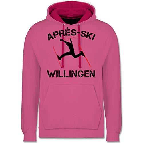 Après Ski - Apres Ski Willingen - Kontrast Hoodie Rosa/Fuchsia