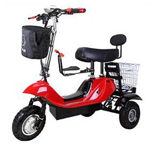 Hebbp1 Mini Folding Elektrisches Dreirad, Erwachsene Falten Tragbare Elektroauto, 48 V Lithium-Batterie-Steuer Fahrrad (kann 200 Kg Standhalten)