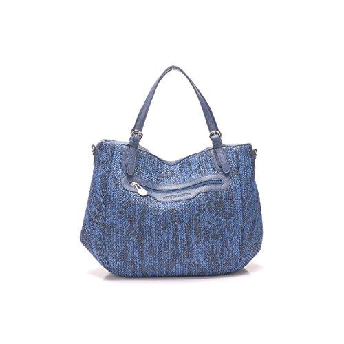 Arthur et Aston - Grand sac à main Maeva taille 26 cm Bleu