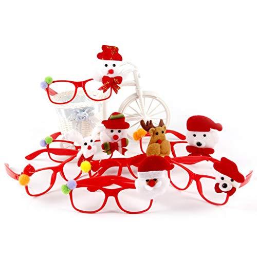 Kofun Kinder Weihnachten Brillengestell Kunststoff Cartoon Muster Glitter Antler Applique LED Blinkt Halloween Party Dekoration Kostüm Geschenk B #