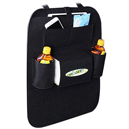 KKmoon Auto Car Backseat Multi-Pocket Holder Felt Covers Seat Wool Felt Storage Container Bag Hanging Box