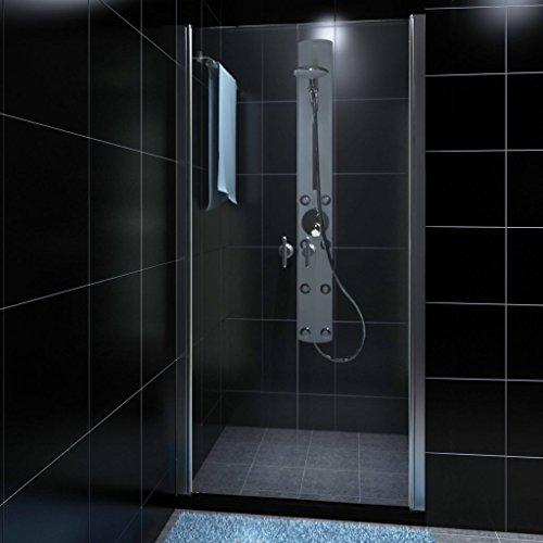 duschwand halbrund Tür-Dusche Glas 80cm