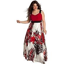 vestidos de mujer,Switchali Mujer Verano casual moda floral Vestido de baile atractivo ropa mujer talla grande ( l ~ 5xl) vestido para señora Formal maxi Vestido de noche nuevo 2017 barato