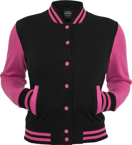 Ladies urban classics veste pour homme college 2 tons tB218 coupe regular fit Multicolore - Rouge/blanc