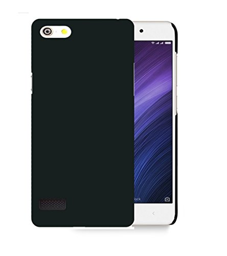 Parallel Universe Oppo Neo 7 Back Cover Case Premium Smooth Rubberised Matte Finish Hard PC backcover- Black