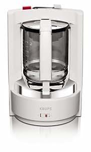 Krups F46 80111 Cafetière vapo pression T8, 8 tasses, 850 W (Blanc)