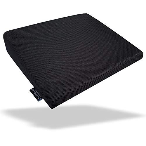 Medipaq – cuscino a cuneo memory foam per il supporto della schiena, correzione della postura, sollievo dal dolore e aumento dell'altezza – cuscinetto ortopedico per sedile con rivestimento a rete 3d lavabile e traspirabile – con fondo antiscivolo