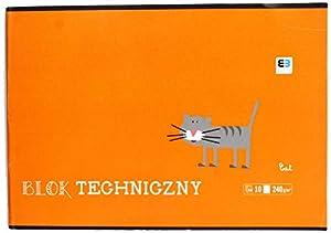 Interdruk BLTBB - Bloc de Dibujo técnico (A4, 10 240 g), Color Azul y Negro