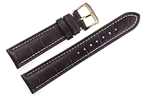 22mm-dark-brown-luxury-italian-leather-replacement-watch-straps-bands-handmade-grosgrain-padded-whit