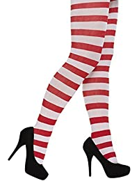 Women's Fancy Dress Red and White Striped Tights / Elf / Christmas