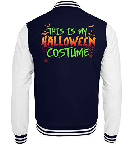 Das Ist Mein Halloween Kostüm Costume Lustiges Boo Gruseliges Spinnen Fledermaus T-Shirt - College Sweatjacke