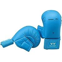 Guantes Pro Karate Wesing, aprobados por WKF, color blue with thumb, tamaño Small