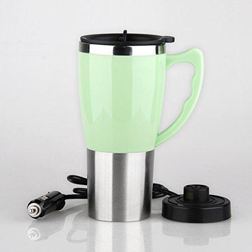 Double-Layer-Edelstahl-Auto beheizte Wasser-Cups Portable Travel Cups können beheizt werden, um zu kochen ( Color : Green ) (Double-layer-regenbogen)