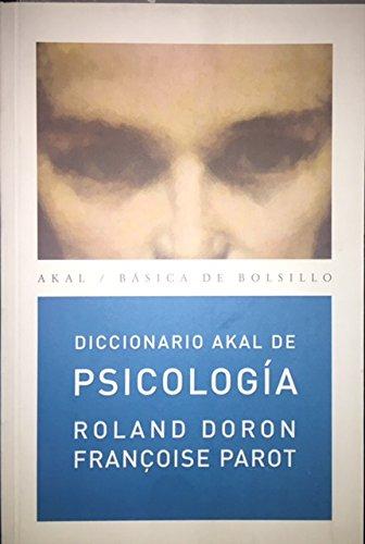 Diccionario Akal de Psicología (Básica de Bolsillo)