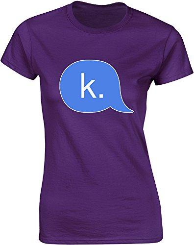 Brand88 - Brand88 - K., Gedruckt Frauen T-Shirt Lila/Transfer